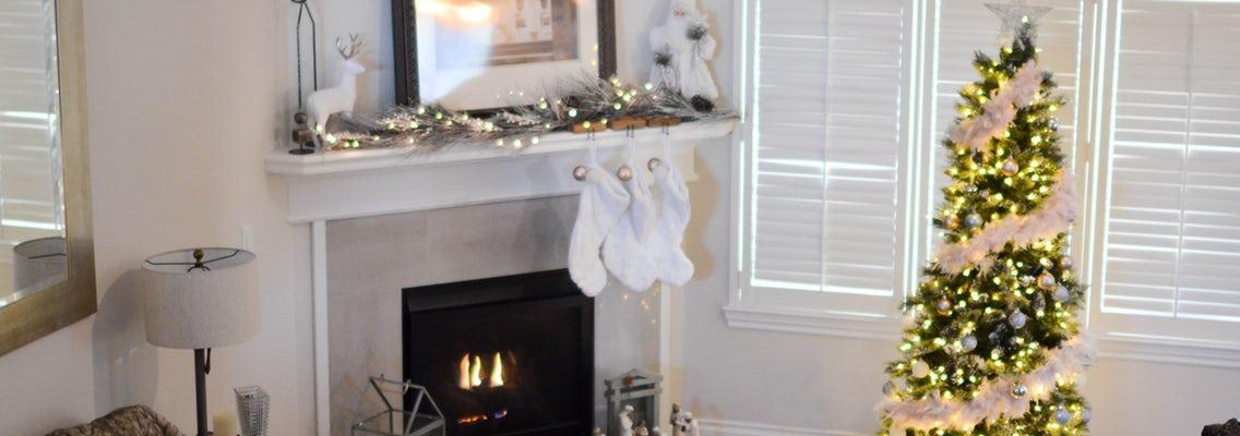 christmas decor stocking hanging photo
