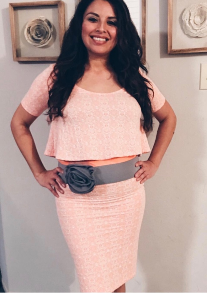 peach top and skirt set blue labels boutique