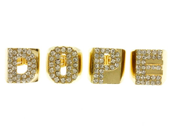 gold 4 piece dope ring set