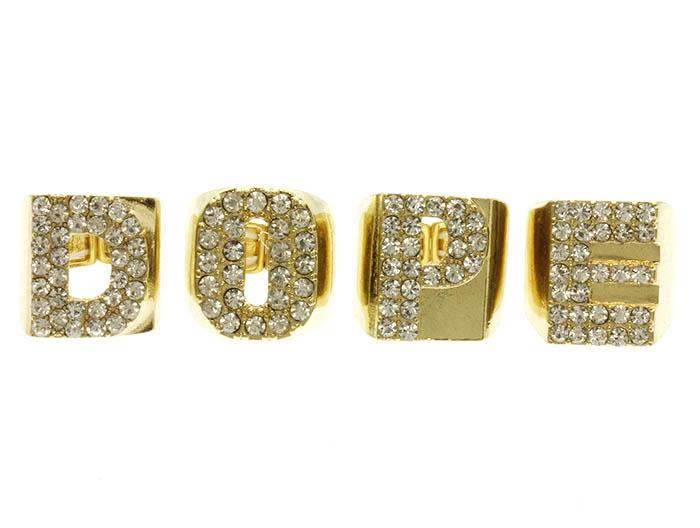 gold 4 piece dope ring set