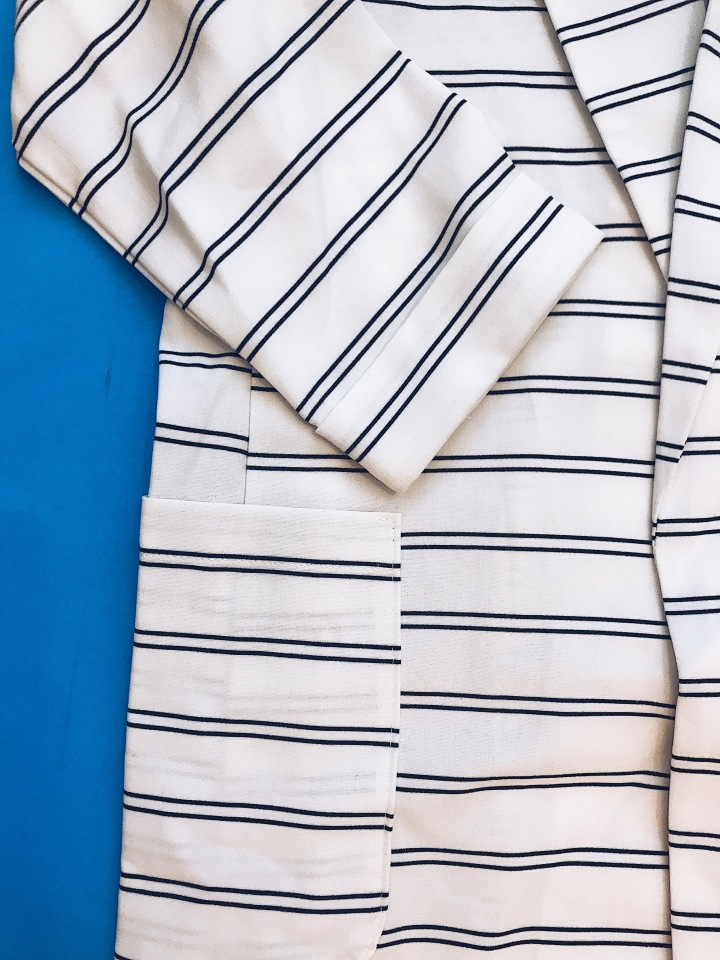 women ivory black stripe skort set blue labels boutique