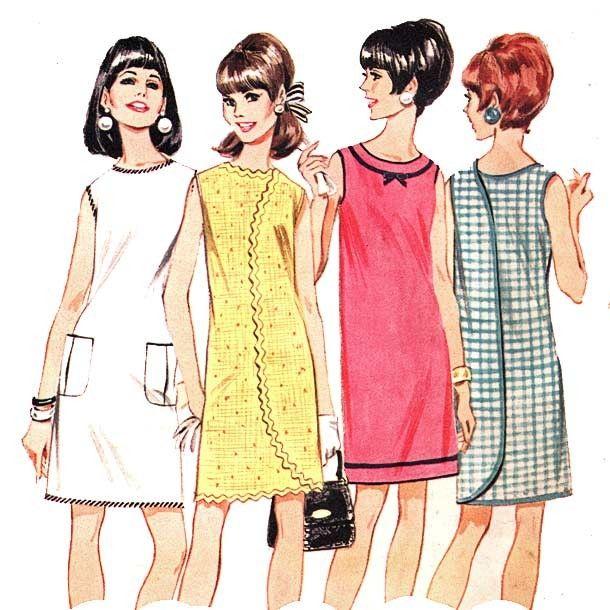 mod shift dress