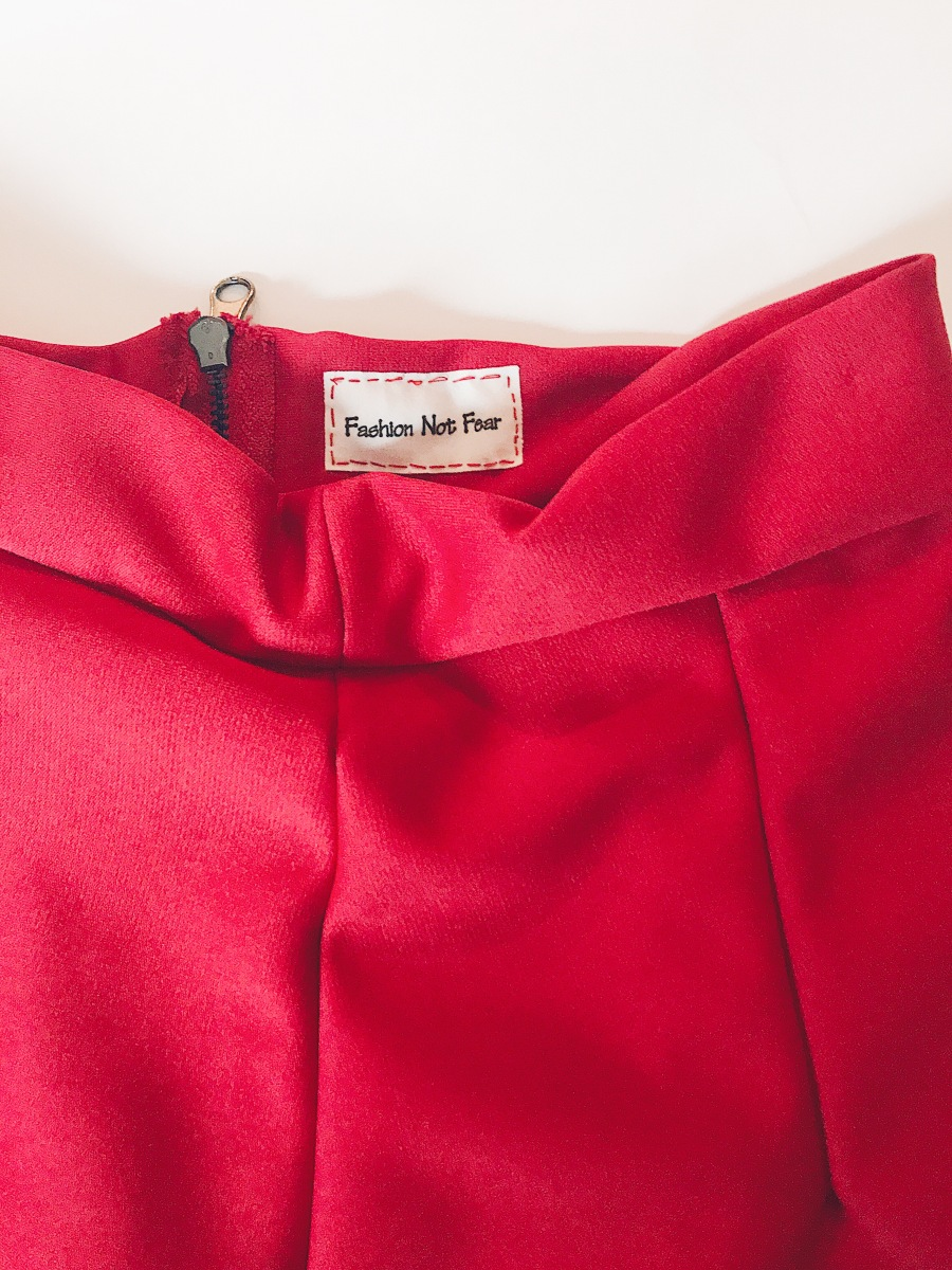 fashionnotfear red skirt