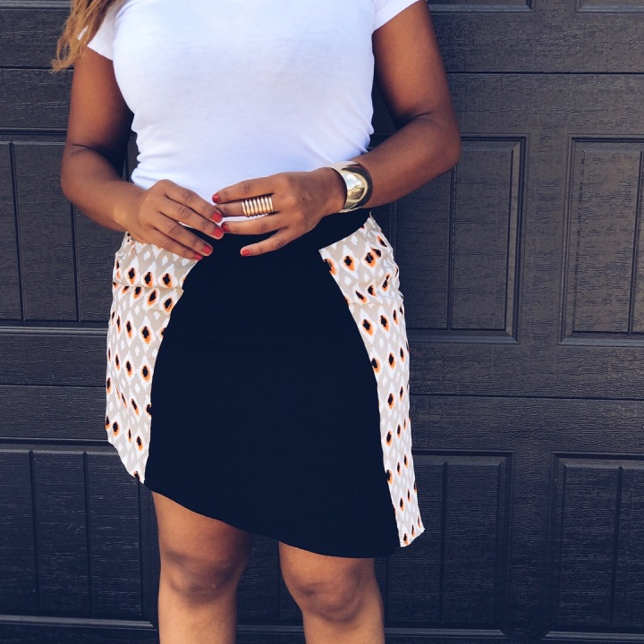 asymmetrical hem mini skirt
