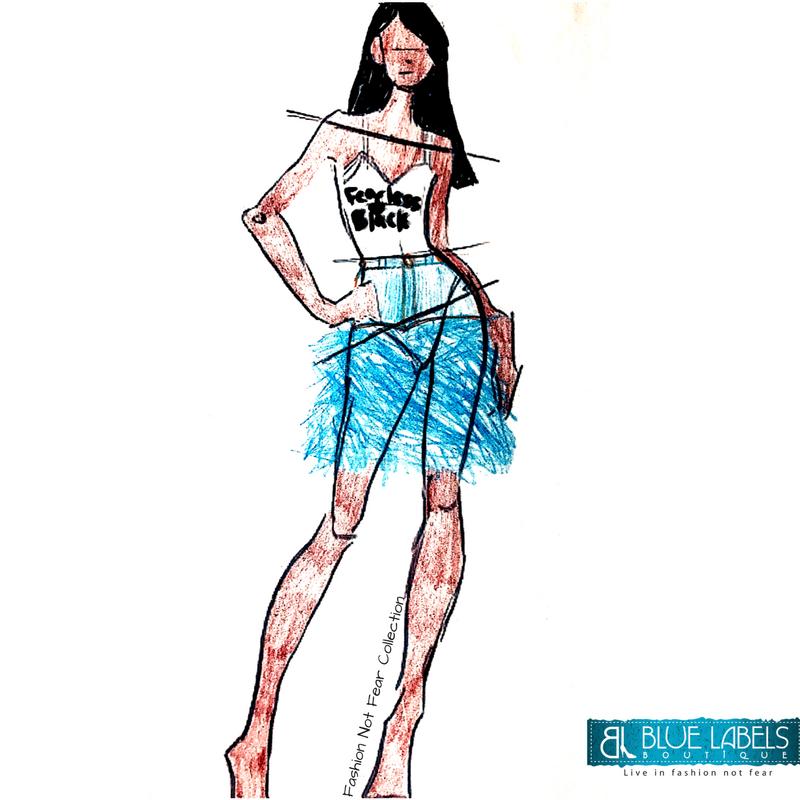 Fearless Black Tank Fringe Denim Skirt Fashion Not Fear Collection