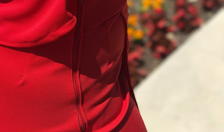 Red tank and skirt set
