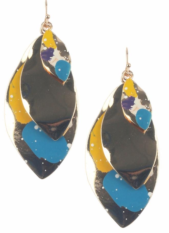 Painted dangle earrings