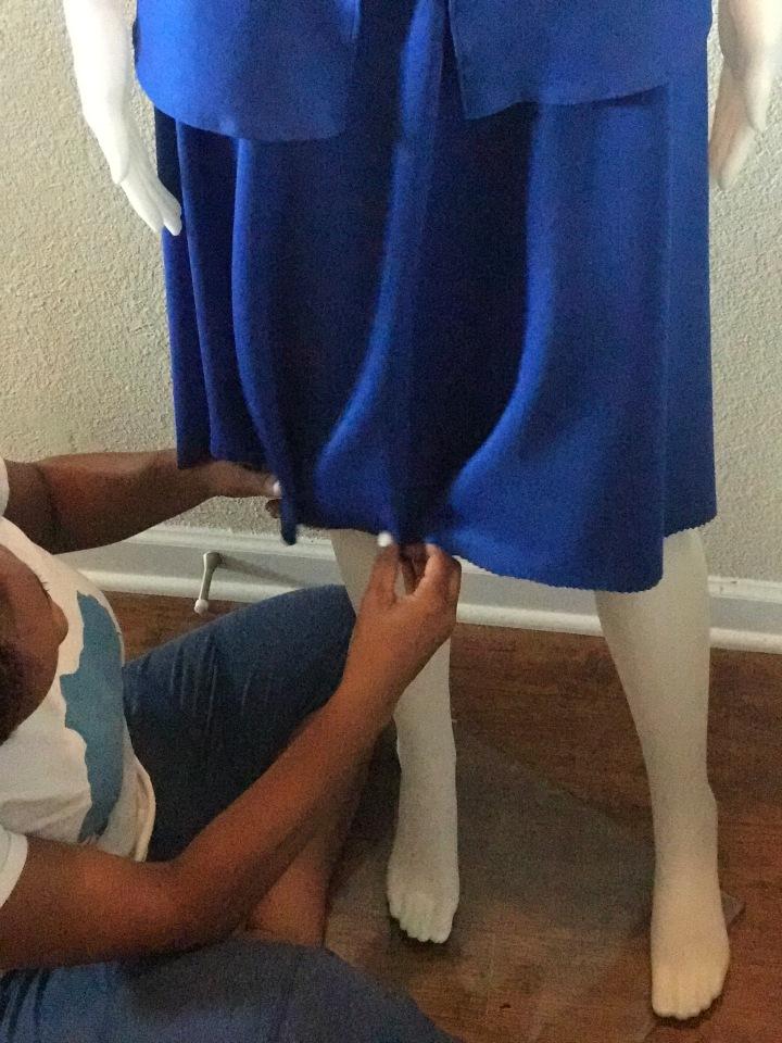 Blue skirt set blue Labels Boutique