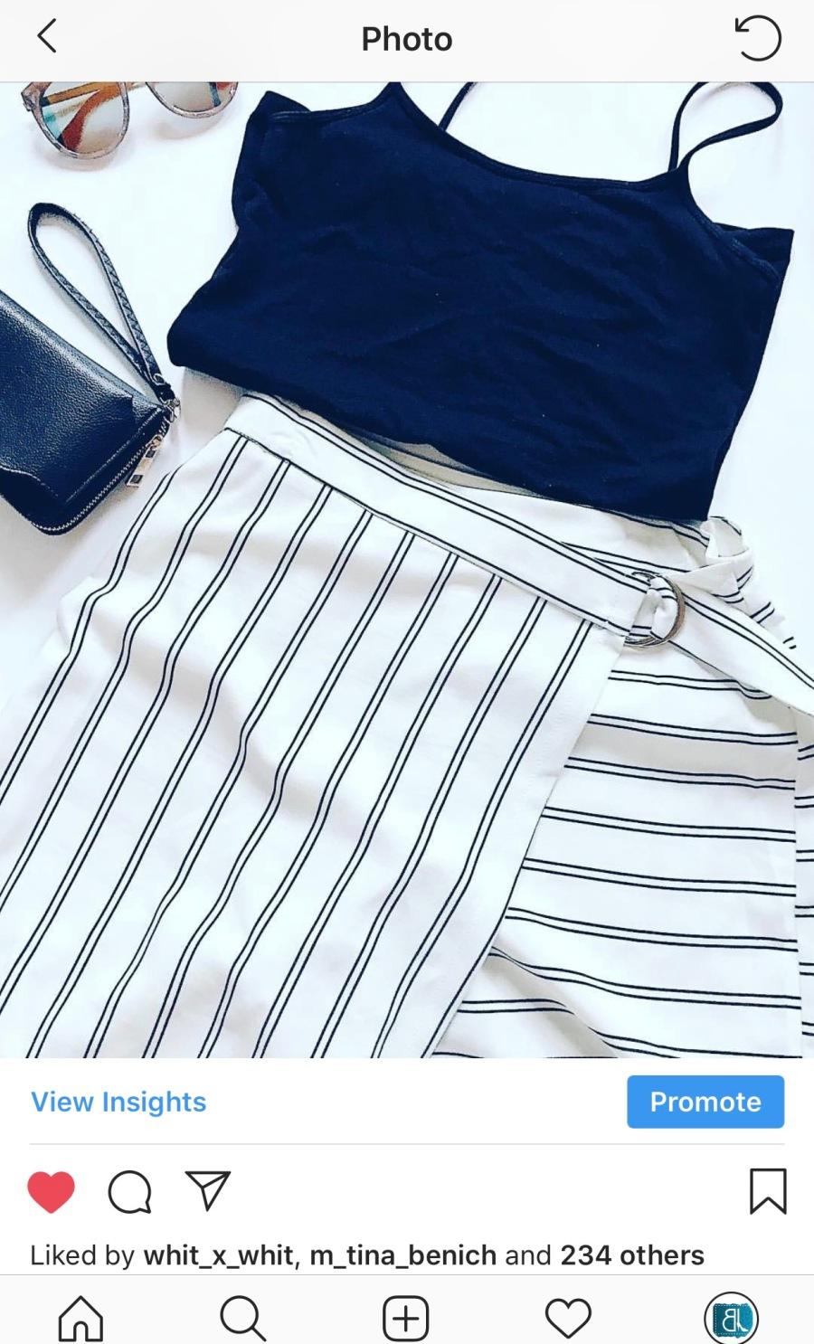 striped skort blue labels boutique
