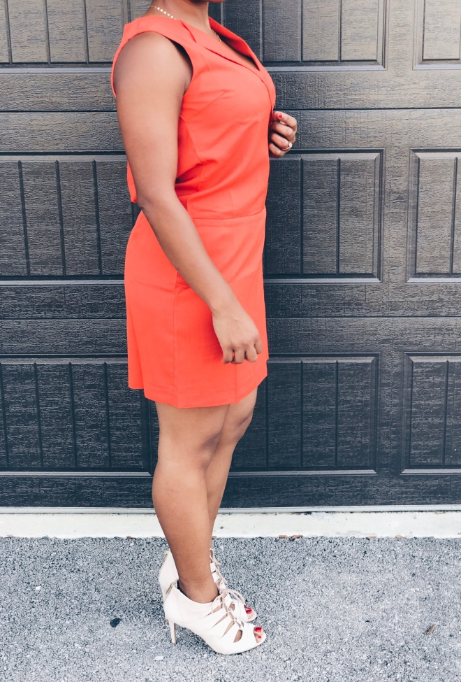 orange vest dress on sale