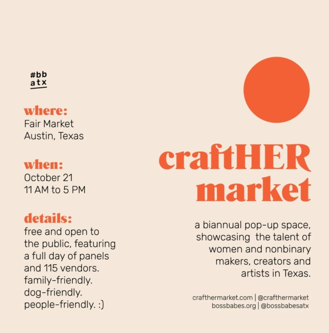 crafther pop up market - austin