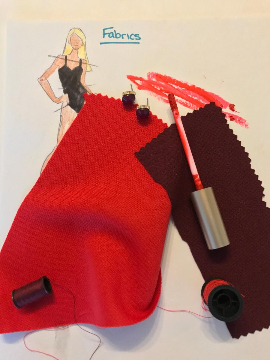 Red fabric burgundy fabric fashion inspiration