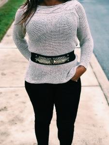 beige womens sweater