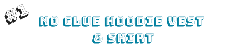 blue hoodie vest and womens skirt