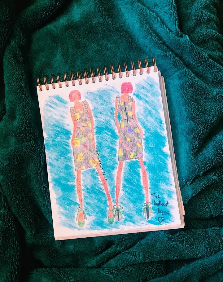dress fashion sketch