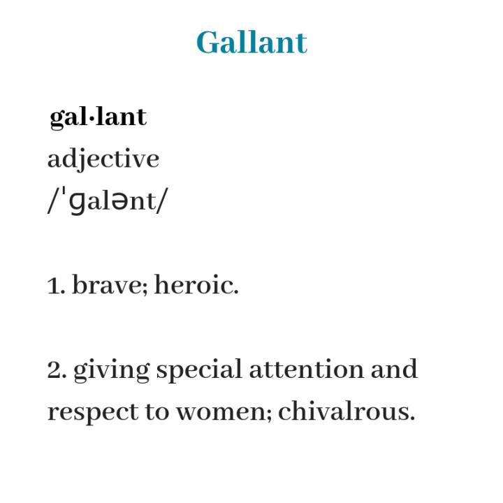 gallant definition