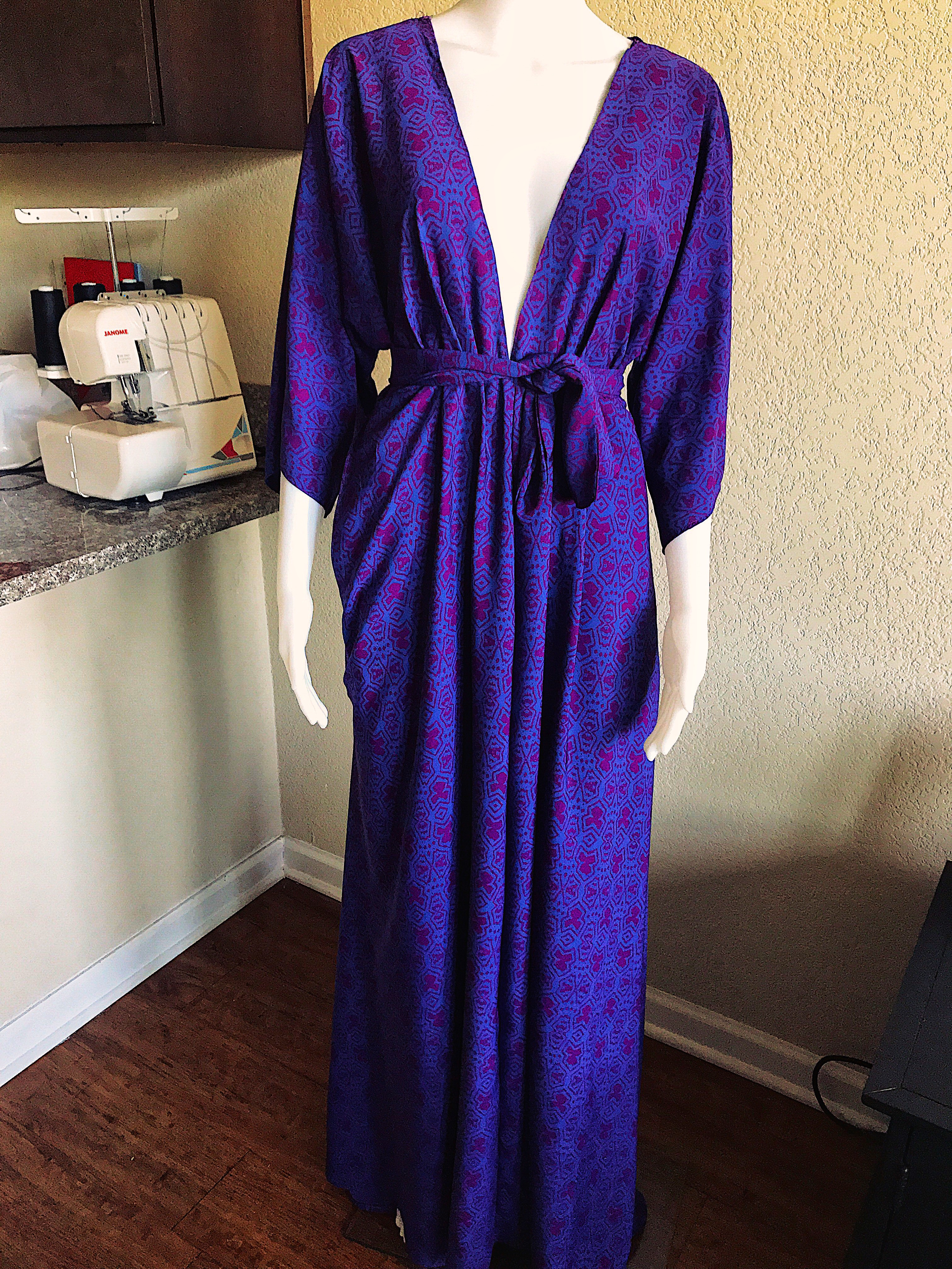 purple and pink maxi dress