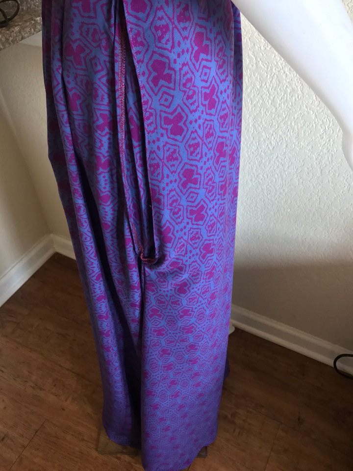 purple and pink dress side pockets