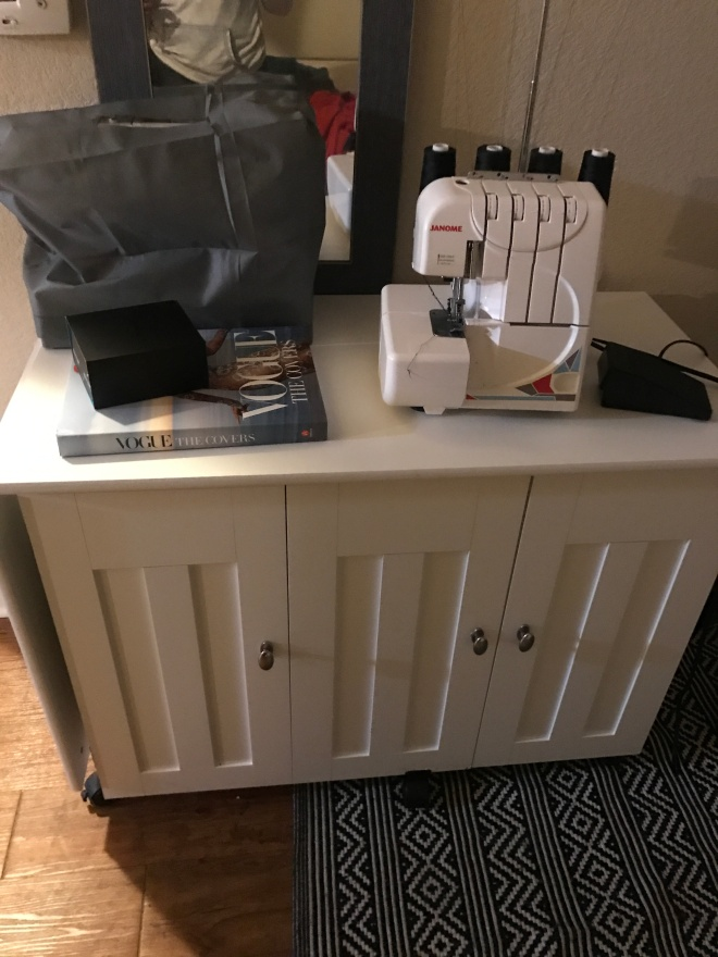 closed up sewing desk