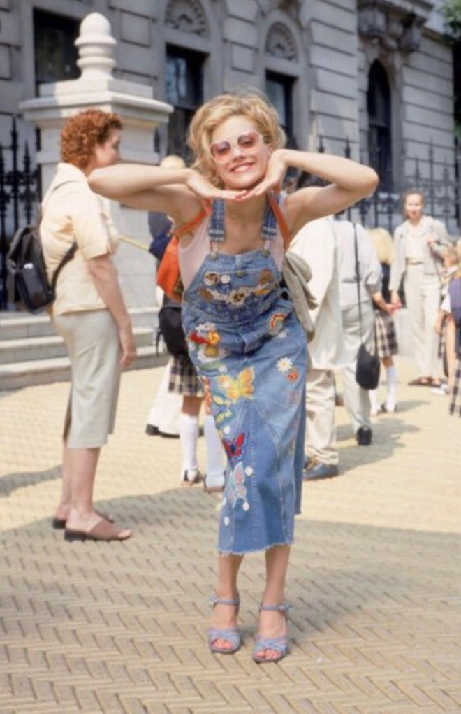 brittany murphy overal dress 90s