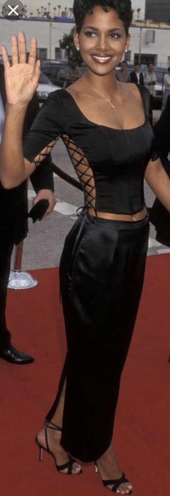 halle berry in 90s dress