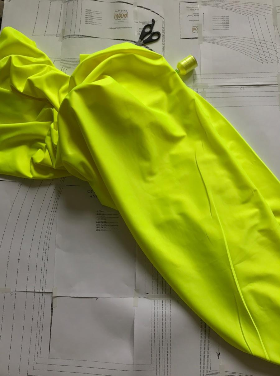 neon fabric on patterns