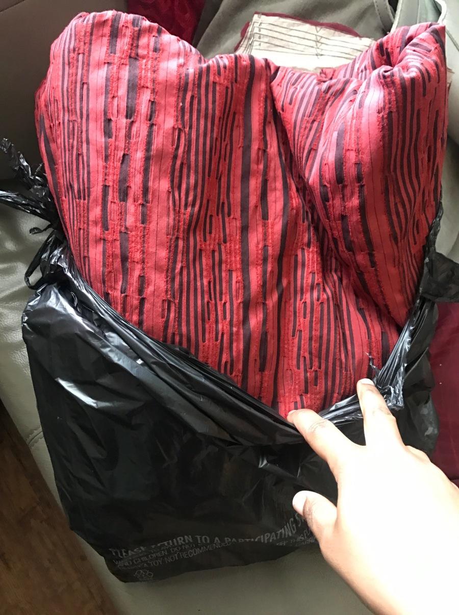 orange and black fabric