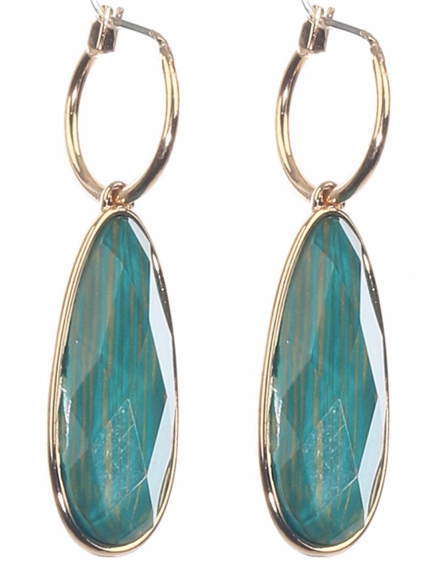 Light emerald green and gold earrings