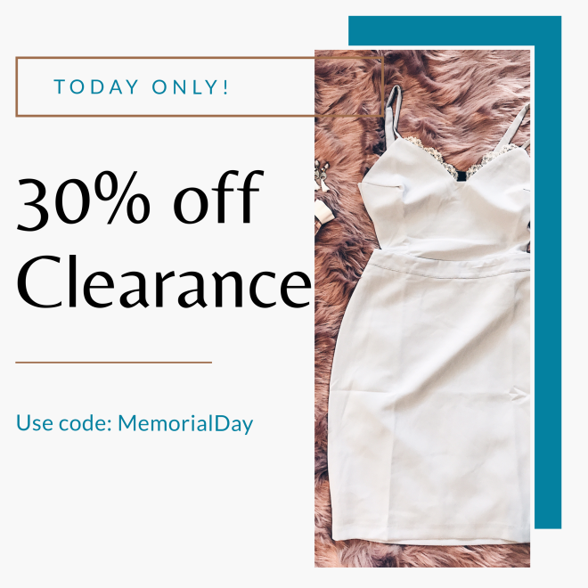 30 off clearance dresses