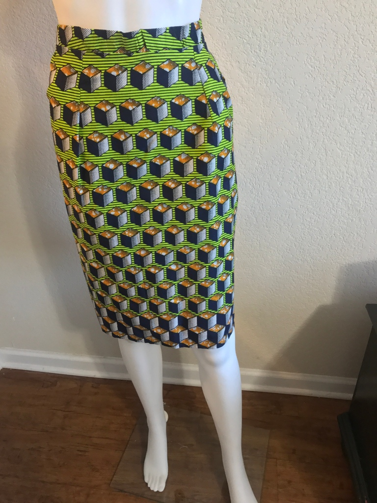African printed womens skirt