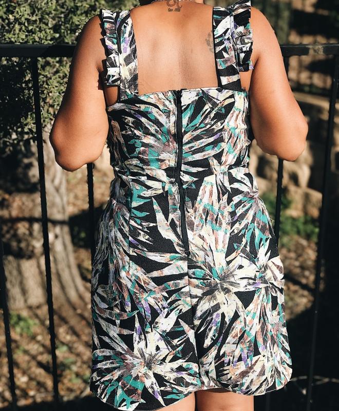 Floral printed handmade dress