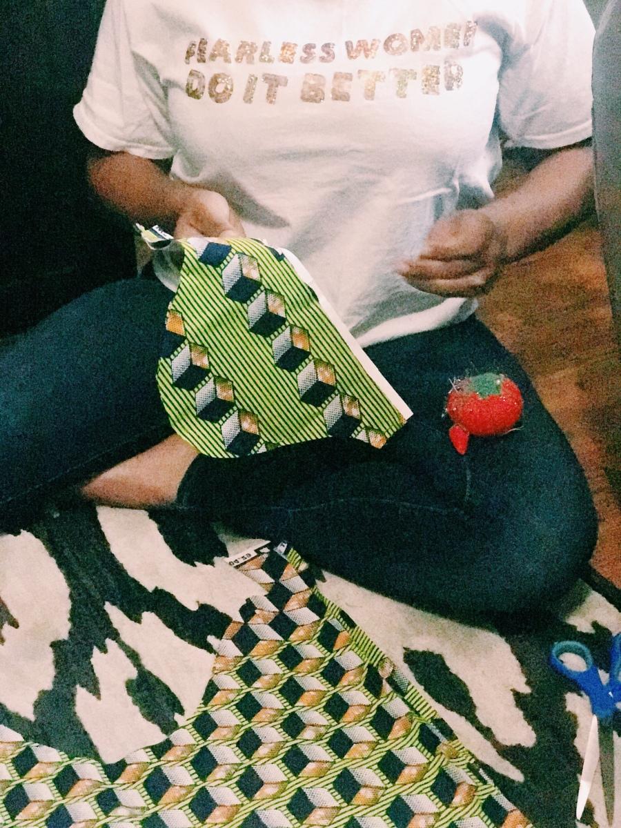 Cutting fabric patterns