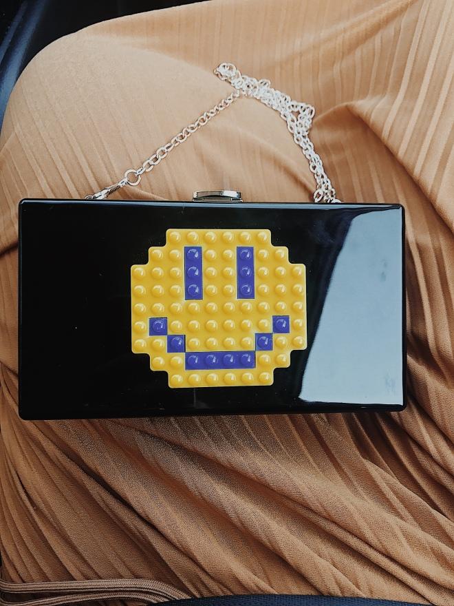 Smiley face handbag