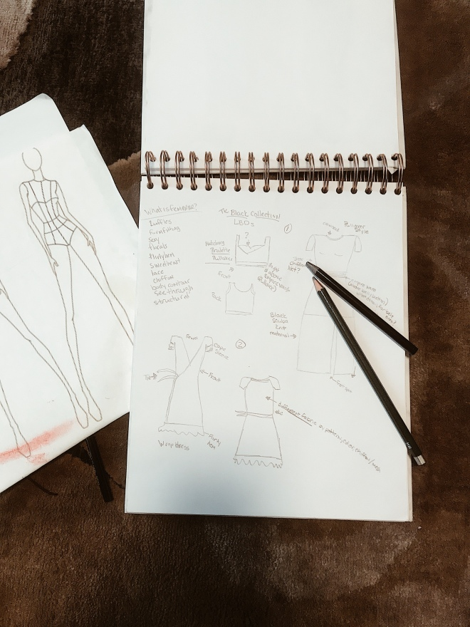 Sketches of fashion not fear collection