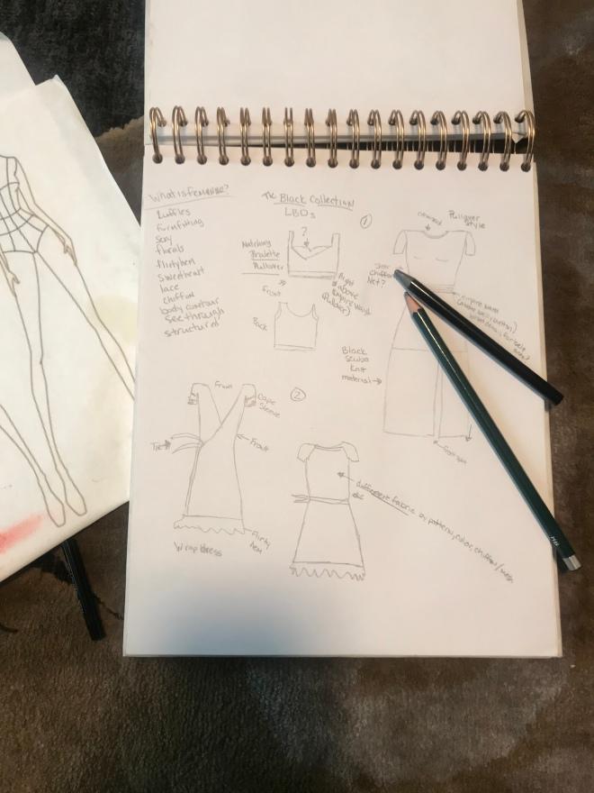 Fashion not fear sketch