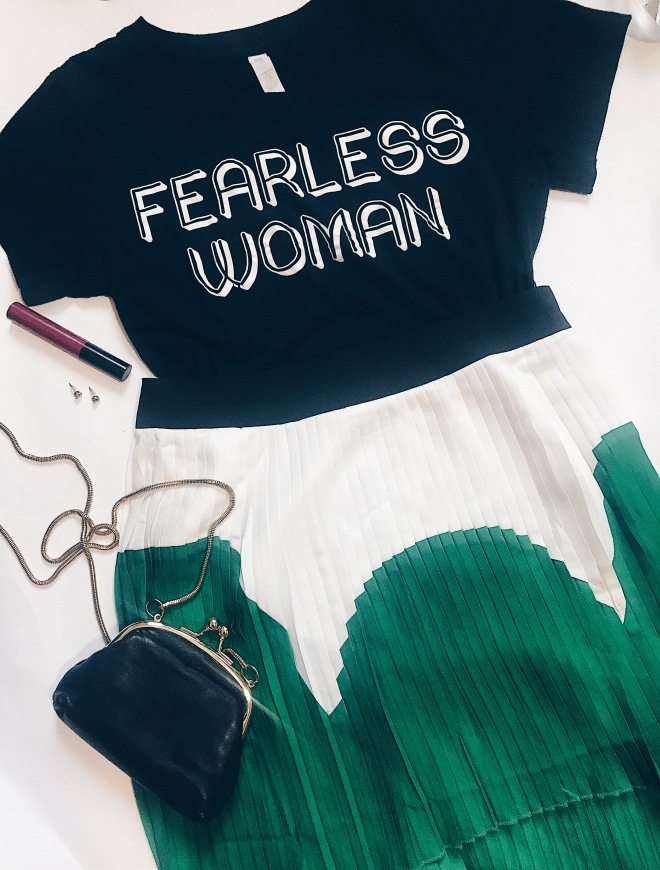 black fearless women t-shirt