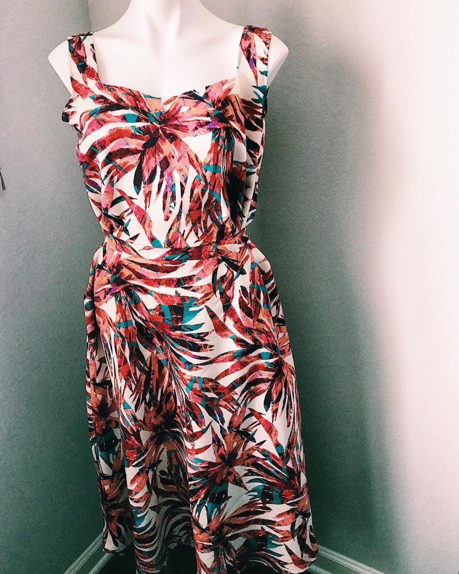 floral printed women's dress