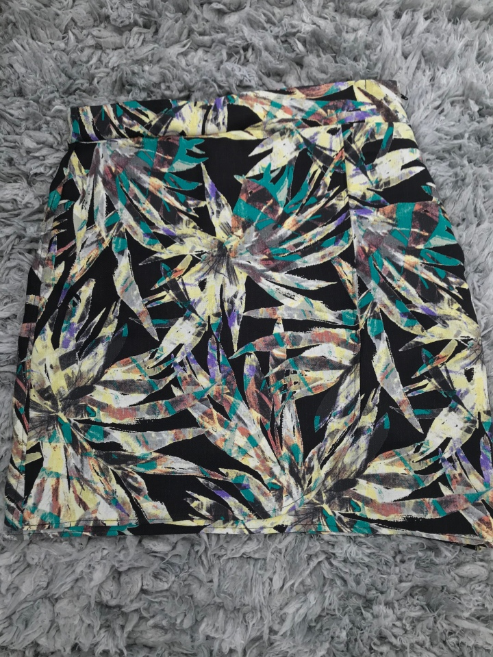 Floral printed wrap skirt
