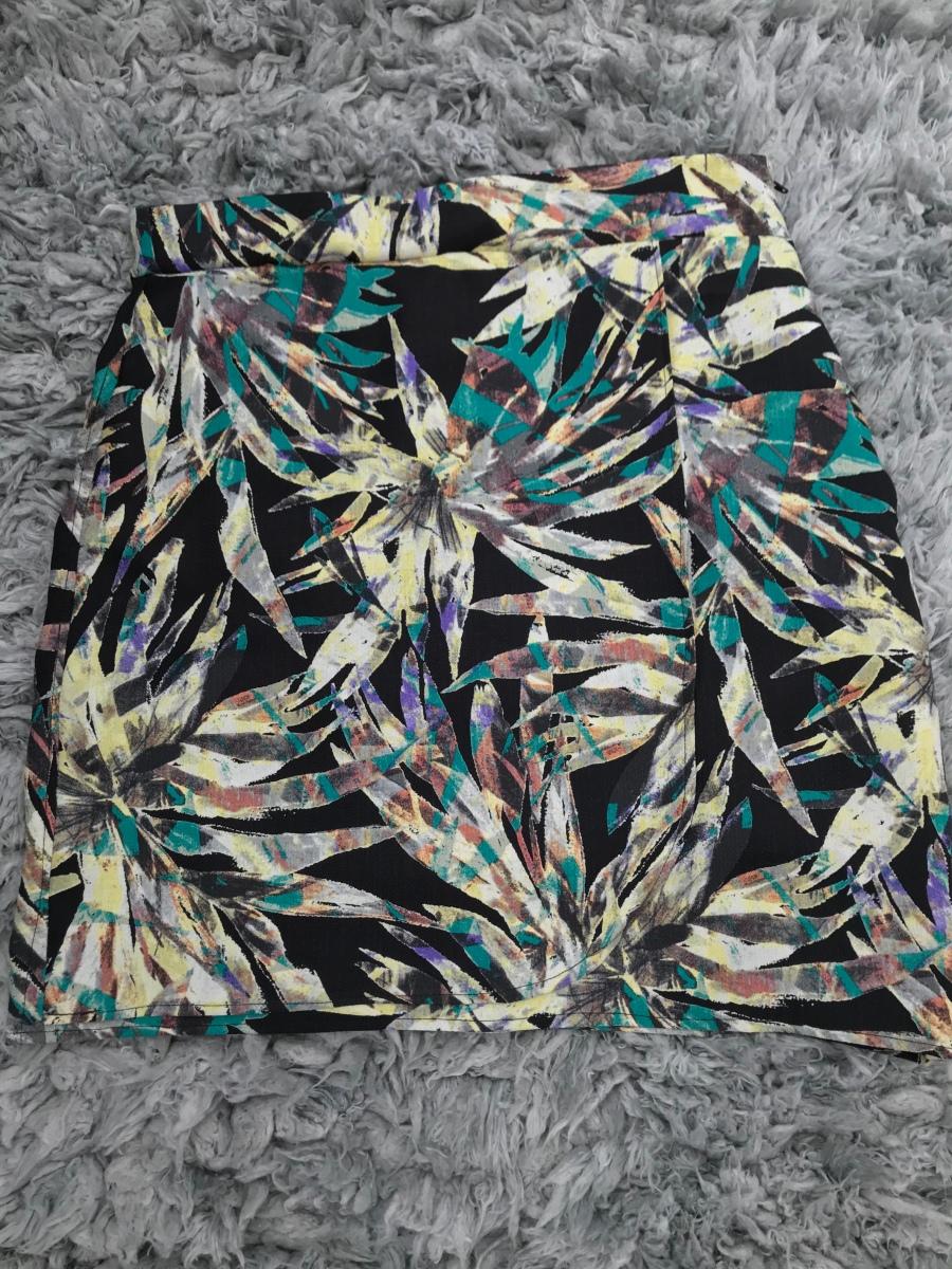 Floral printed wrap skirt