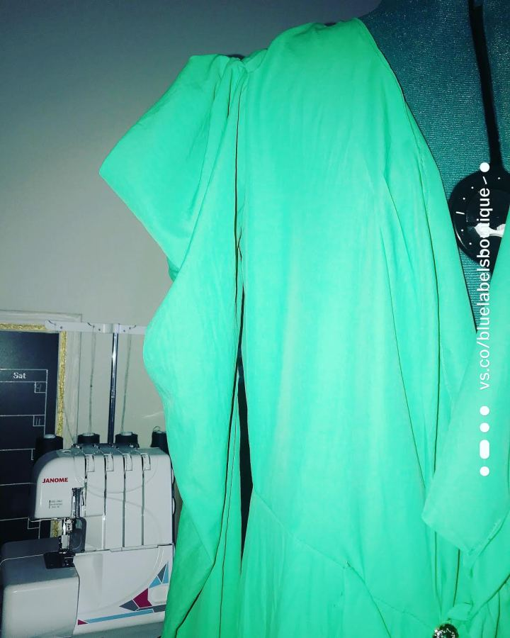 green dress sleeves
