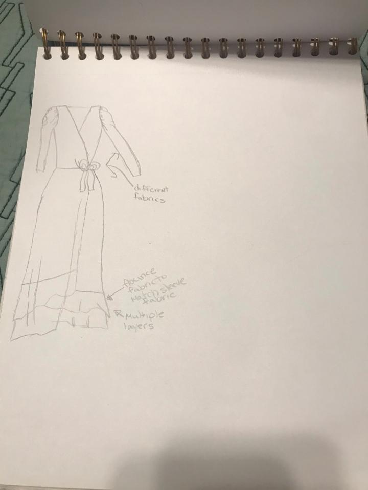 Dress fashion illustration