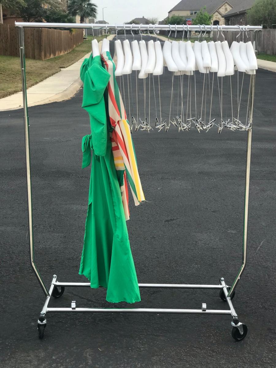 Dresses on a rack
