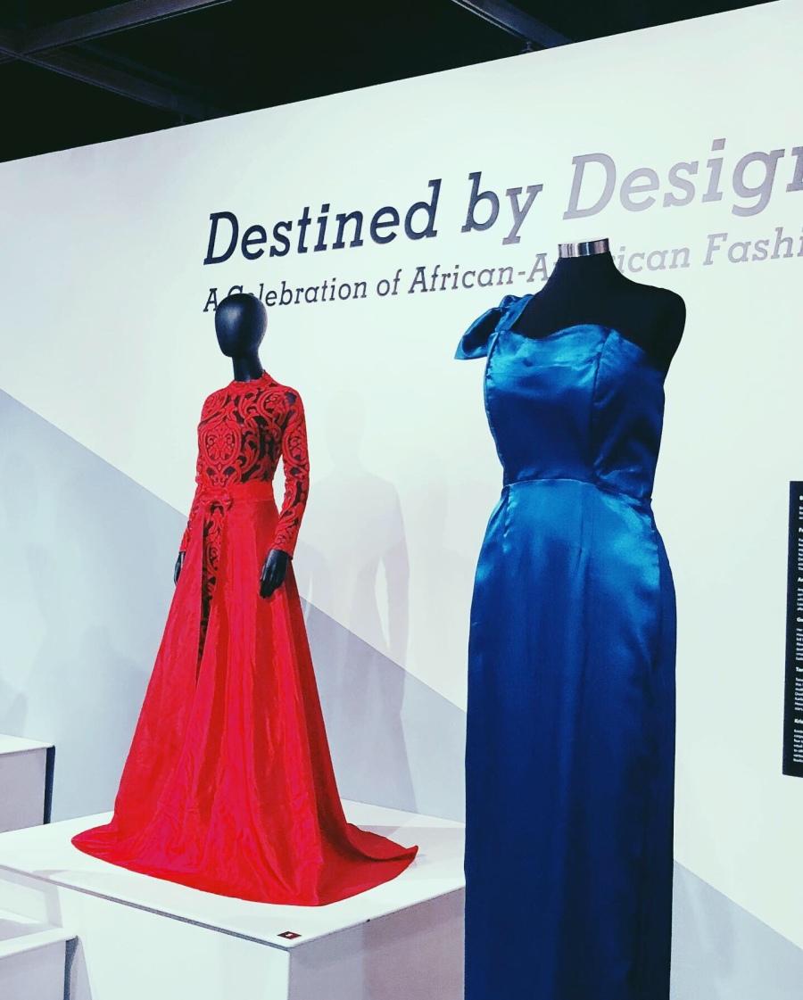 Black dress designer art exhibit