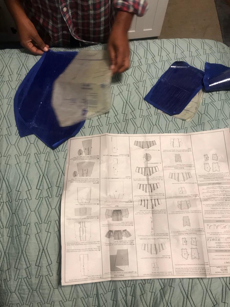 Making a corset dress