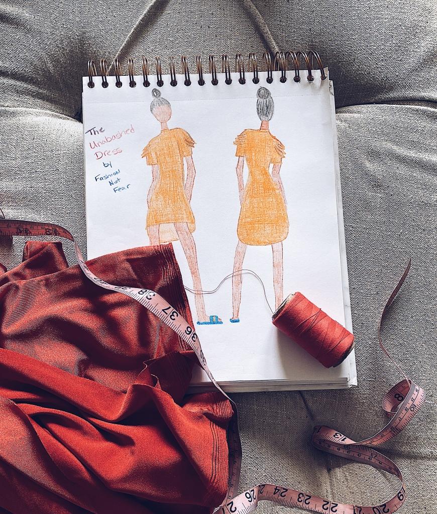 Fashion illustration of dress