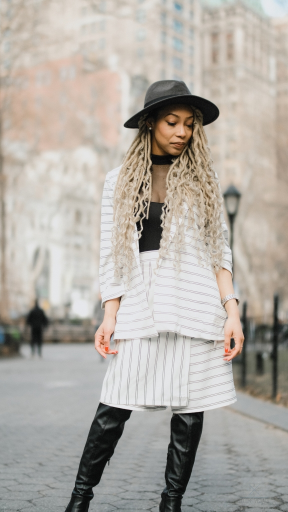 Striped womens suit