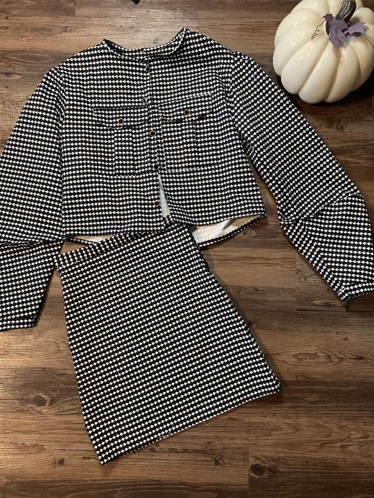 Black white jacket