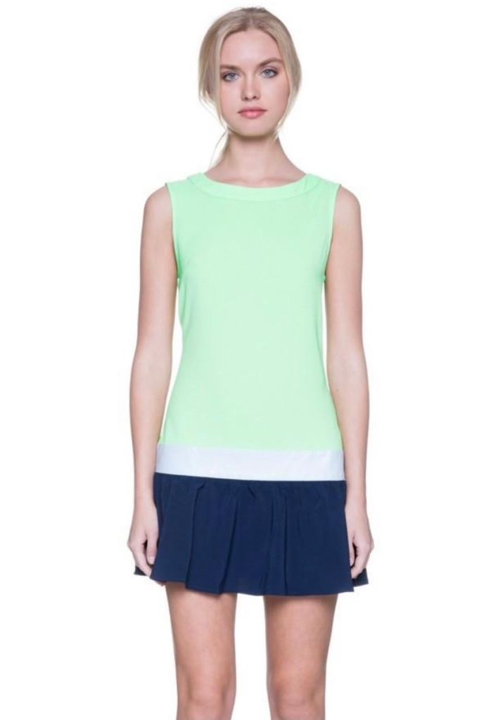 Colorblock mini dress