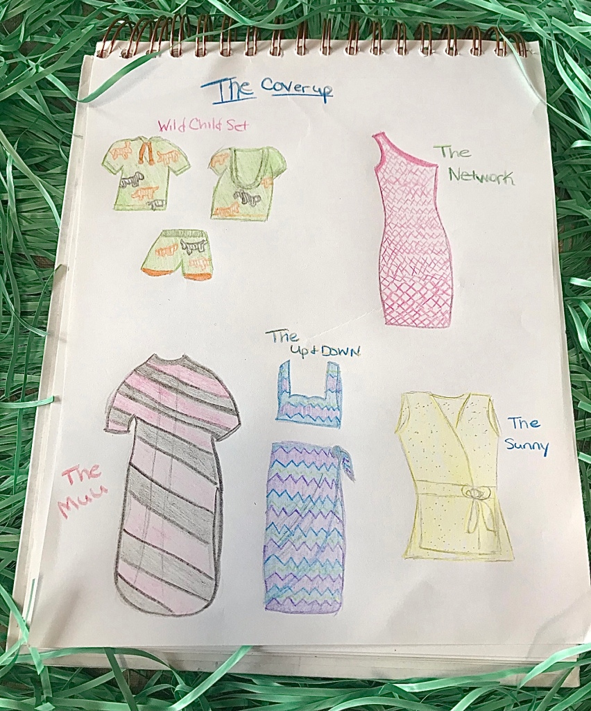 Swimsuit coverup collection illustration