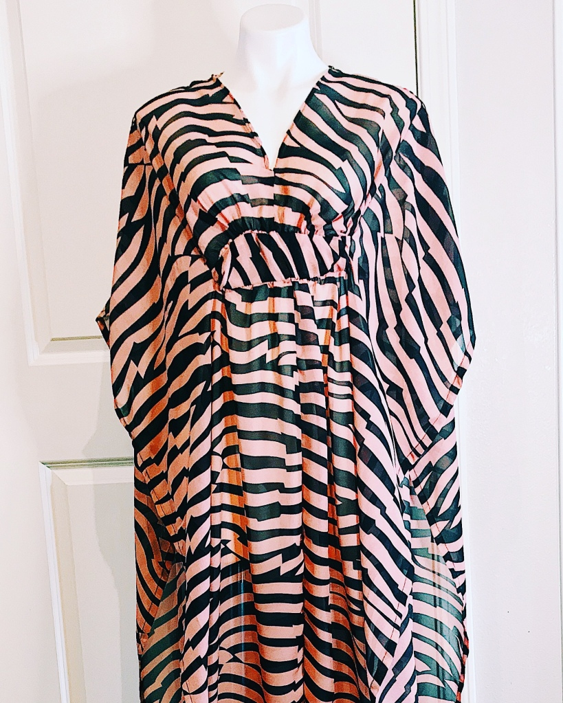 Zebra print chiffon cover up collection